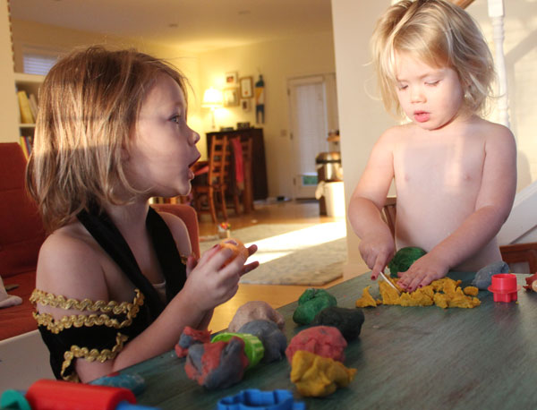 Make your own great-smelling play dough.